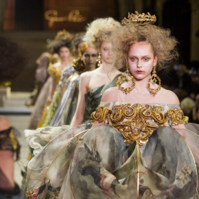 "Time travel with Guo Pei to her medieval ""Legend"" couture SS2017 collection"